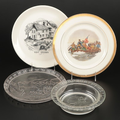 """Washington Crossing the Delaware,"" ""Yost Tavern,"" ""Little Bo Peep"" Plates"