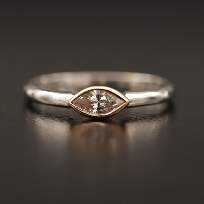 14K 0.33 CT Diamond Ring
