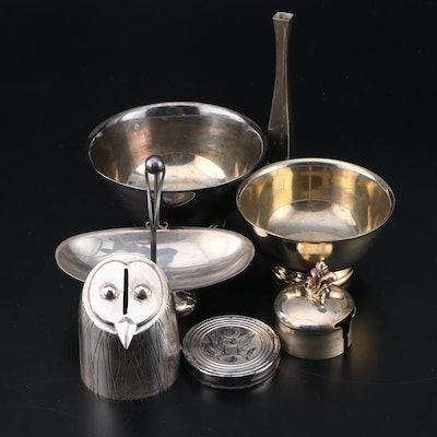 Silver Plate Reproduction Revere Bowls, Vase and Other Table Décor
