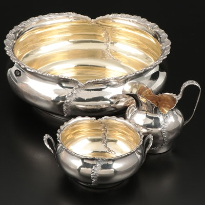 Reed & Barton Sterling Silver Creamer, Sugar, and Bowl