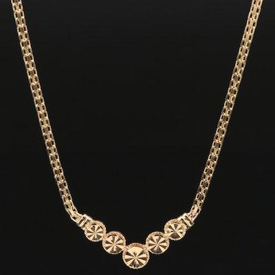 Beverly Hills Gold 14K Chevron Necklace