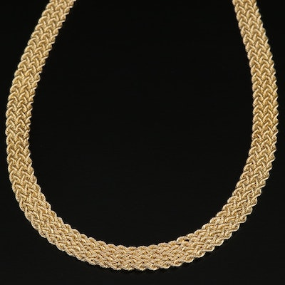 14K Woven Chain Necklace