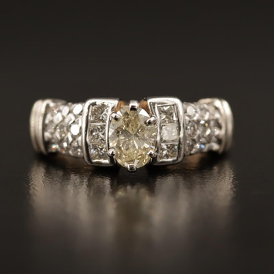 14K Two-Tone 1.12 CTW Diamond Ring