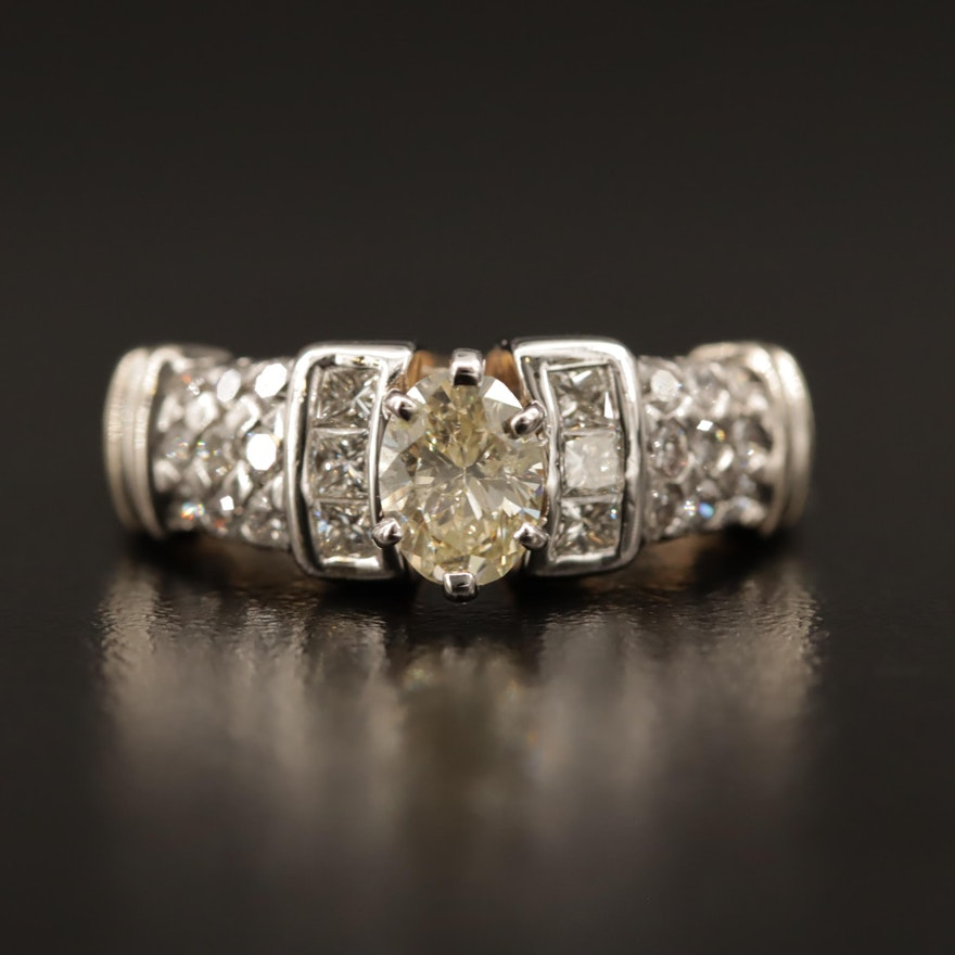 14K Two-Tone 1.12 CTW Diamond Ring