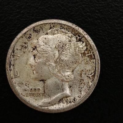 1916-S Mercury Silver Dime
