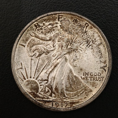 1917 Walking Liberty Silver Half Dollar