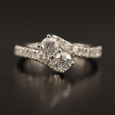 Ever Us 14K 1.50 CTW Diamond Bypass Ring