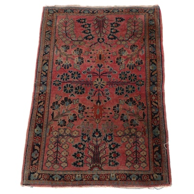 3'6 x 5'3 Hand-Knotted Floral Wool Area Rug