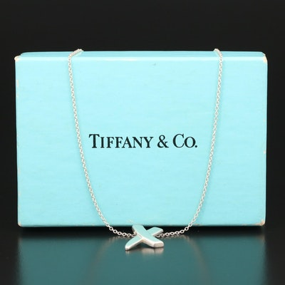 """Paloma Picasso for Tiffany & Co. Sterling """"Paloma's Graffiti"""" X Necklace"""