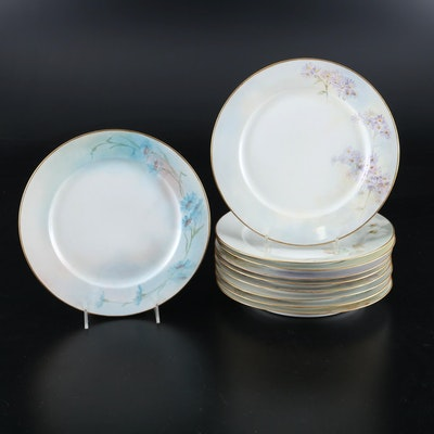 Hobbyist Hand-Painted Plates on Limoges Blanks, Early 20th Century