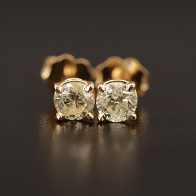 14K 0.84 CTW Diamond Stud Earrings
