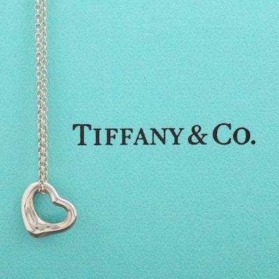 "Elsa Peretti for Tiffany & Co. Sterling ""Open Heart"" Pendant Necklace"