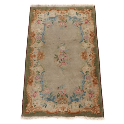 2'11 x 5' Hand-Knotted Floral Wool Accent Rug
