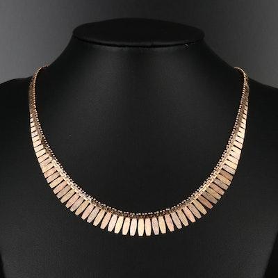 18K Tri-Color Fringe Necklace