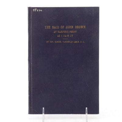 "First Edition ""Raid of John Brown at Harper's Ferry As I Saw It"" by Leech, 1909"