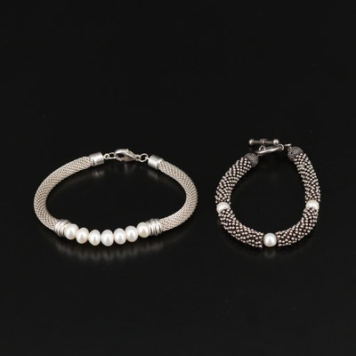 Sterling Pearl Bracelets