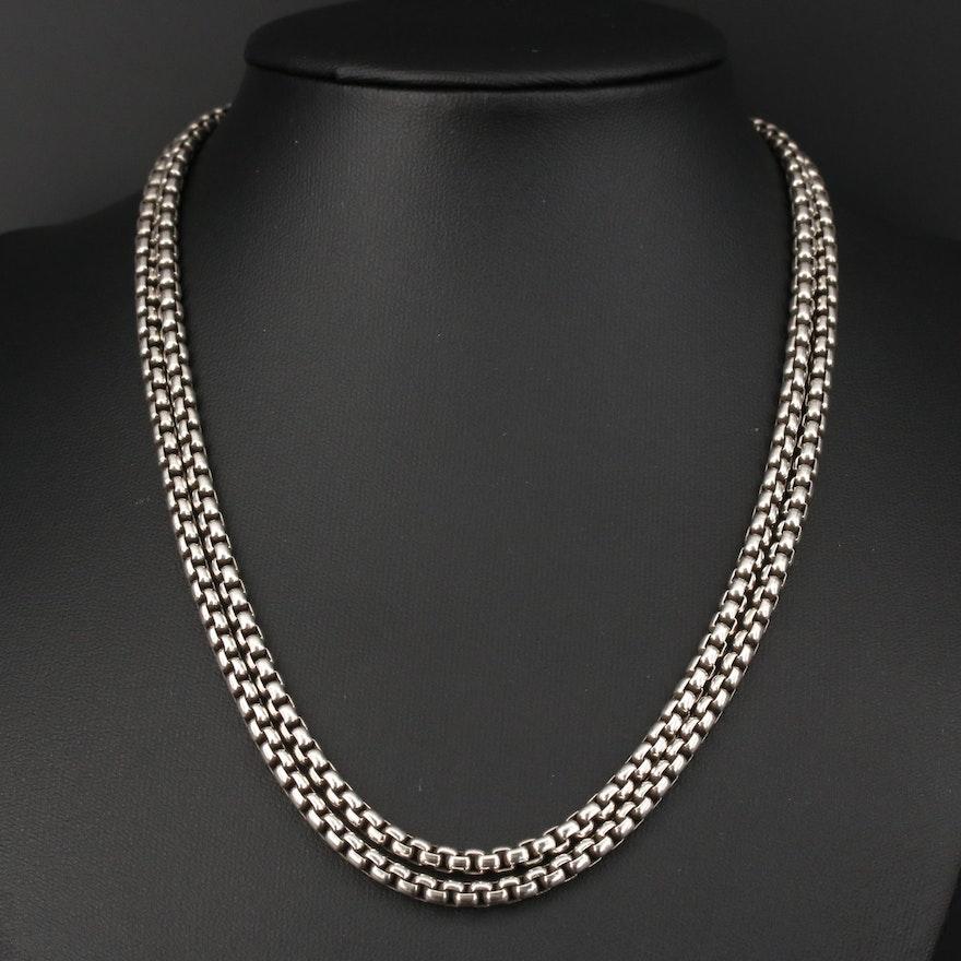 David Yurman Sterling Box Chain Necklace