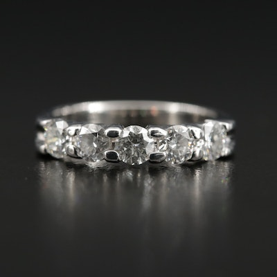 14K Gold 1.00 CTW Diamond Five Stone Ring