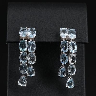 Sterling Aquamarine Dangle Earrings