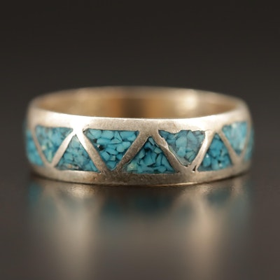 Western Sterling Inlay Band