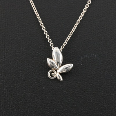 Paloma Picasso for Tiffany & Co. Sterling Olive Leaf Pendant Necklace