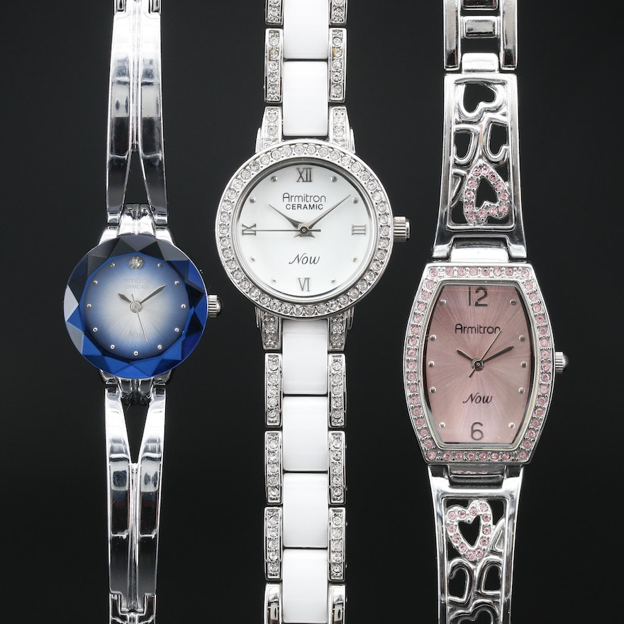 Collection of Armitron Now Crystal Accented Quartz Wristwatches