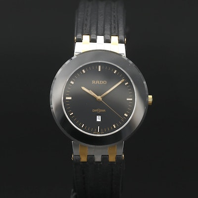 Rado Diastar Stainless Steel and Ceramic Quartz Wristwatch