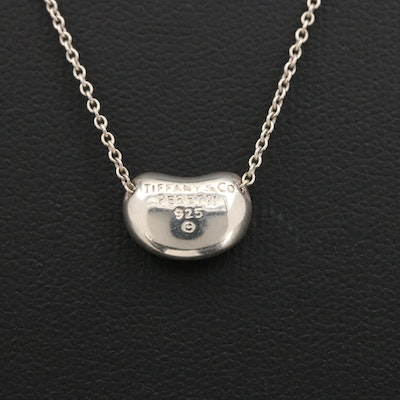 "Elsa Peretti for Tiffany & Co. Sterling ""Bean Design"" Pendant Necklace"
