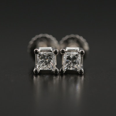 18K Gold 0.40 CTW Diamond Stud Earrings