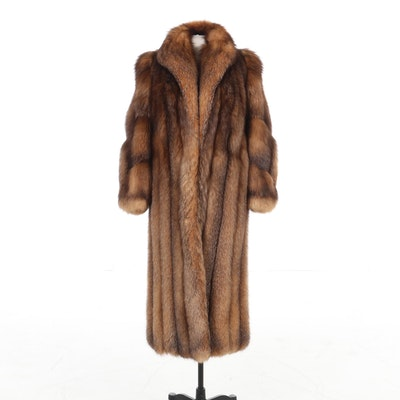 Crystal Fox Fur Full-Length Coat by Affinity