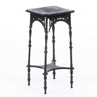 Victorian Aesthetic Movement Cast Iron Plant Stand