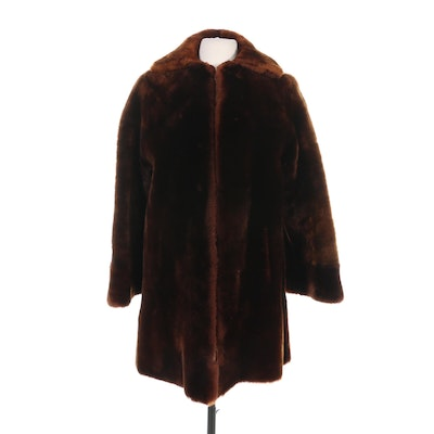 Mouton Fur Coat by Trask's, Vintage