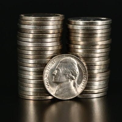 Partial Roll of 1953-S Jefferson Nickels