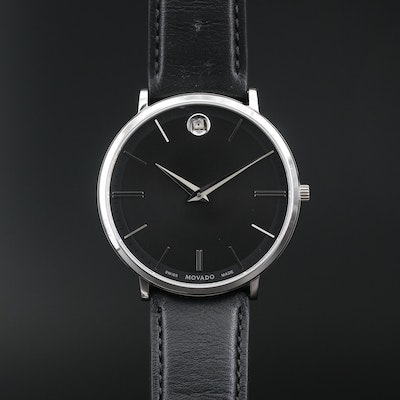 Movado Museum Classic Stainless Steel Wristwatch