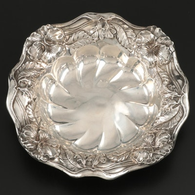 Simons Brothers Repousse Sterling Silver Bonbon Bowl, Early 20th Century