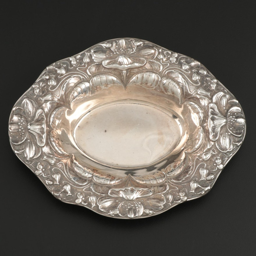 "Gorham ""Poppy"" Sterling Silver Bonbon Bowl, Early to Mid 20th Century"