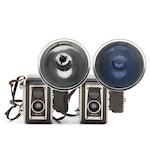 Kodak Duaflex Cameras with Kodalite Flasholder