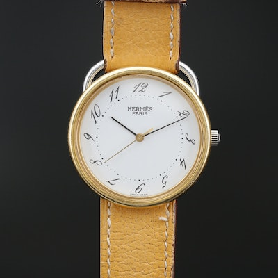 Hermès Acreau Two Tone Quartz Wristwatch