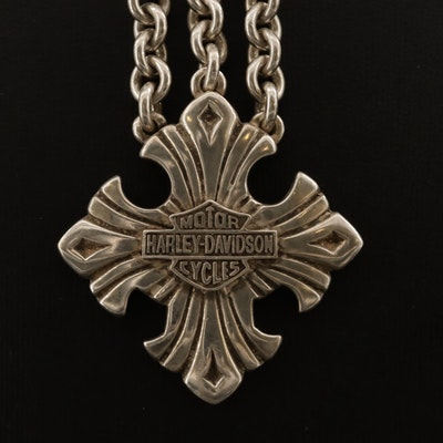 Harley-Davidson Motorcycles Sterling Silver Cable Chain Necklace