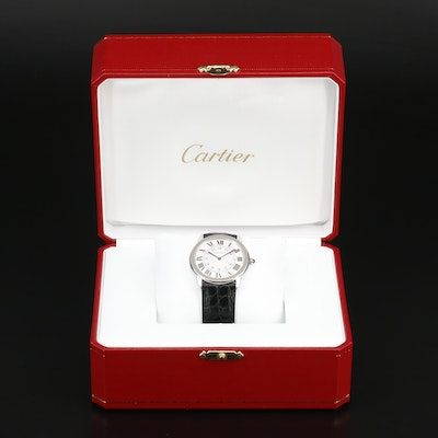 "Cartier ""Ronde Solo"" Stainless Steel Quartz Wristwatch"