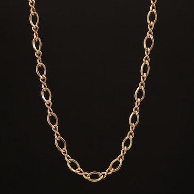 14K Infinity Link Necklace