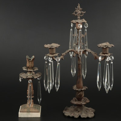 Art Nouveau Bronze Candelabras, Late 19th-Early 20th Century