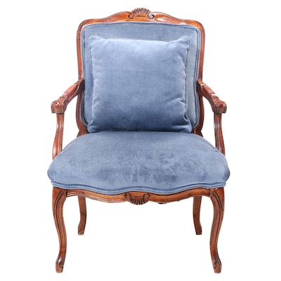 Louis XV Style Stained Hardwood Fauteuil