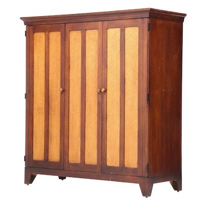 Romweber Bird's Eye Maple and Stained-Maple Bifold-Door Media Cabinet