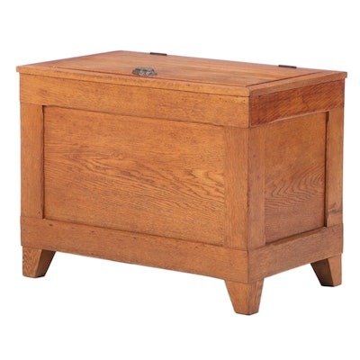 Antique Oak Ice Box Chest