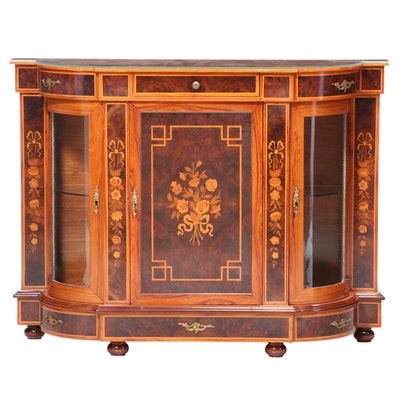 Louis XVI Style Gilt Metal-Mounted and Marquetry Console Cabinet