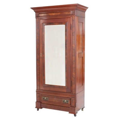 Late Victorian Mahogany Knock-Down Wardrobe, Late 19th to Early 20th Century