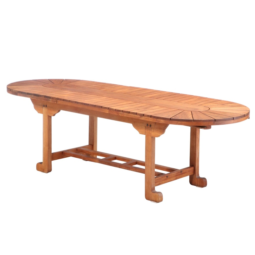 Teak Expansion Outdoor Dining Table
