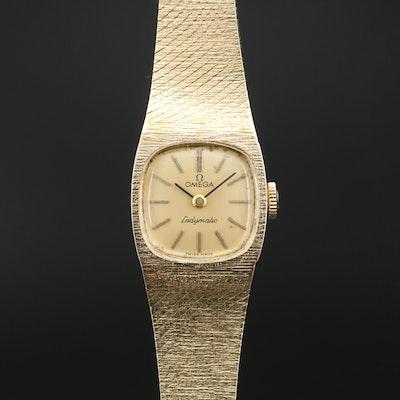 """1972 14K Omega """"Ladymatic"""" Automatic Wristwatch"""