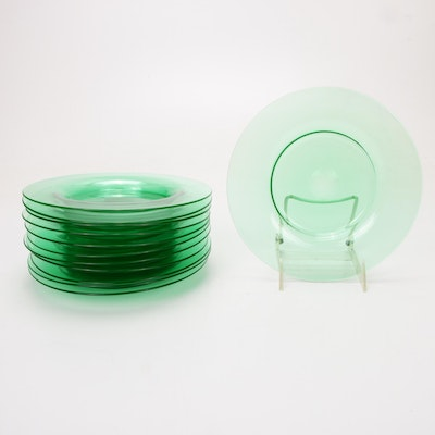 "Steuben ""Pomona Green"" Art Glass Luncheon Plates, 1903–1933"